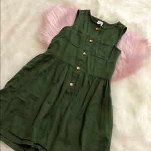 Carter's 4/5 button green dress girls